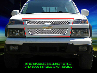 Stainless Steel Mesh Grille Front Grill Insert For 2004-2012 Chevy Colorado