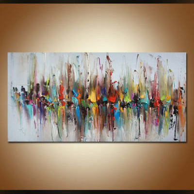 Large Home Decor Art On Canvas Abstract Fashion Hand-Painted Oil Painting Wall