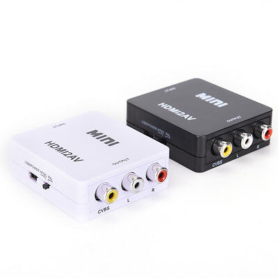 HDMI To RCA AV/CVBS Adapter HD 1080P Mini HDMI2AV Video Converter for TV