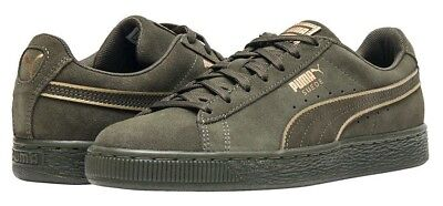 0f5285cbacf3 NEW PUMA SUEDE Classic Casual Shoes Mens green gold -  49.99