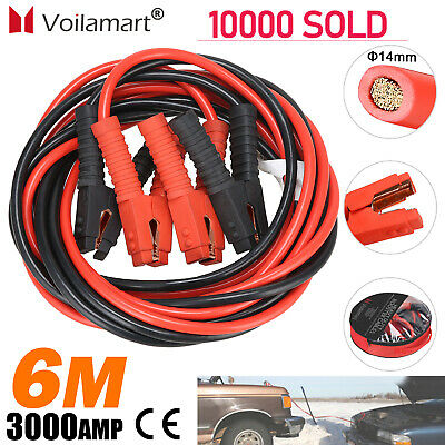Booster Cables 3000AMP 0 Gauge Car Jumper Leads Van Heavy Duty Battery Auto 20FT