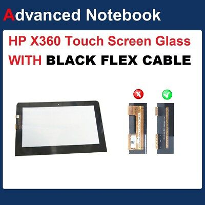 Digitizer Glass Touch Screen Glass For HP X360 11-ab022TU  with BLACK flex cable
