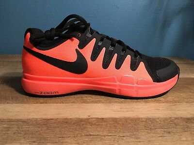 Nike Zoom Vapor 9.5 Tour Men's Tennis Shoes, 7.5, NEW, Hot Lava,
