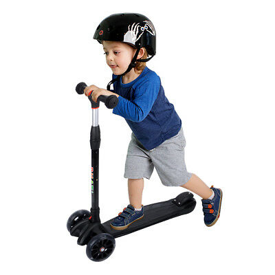PHAT® 3 Wheels Kick Scooter w/LED Light Up Wheels for Toddler Kids Child Gifts