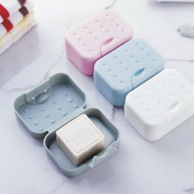 Soap Dish Box Case Holder Container Home Bathroom Toilet Shower Travel Kawaii