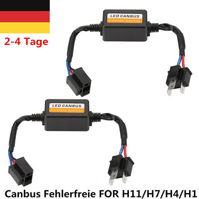 2x H7/H4/H1/H11 Car LED Scheinwerfer Decorder Headlight Canbus Fehlerfreie Lamp