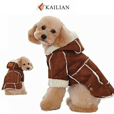 Kailian Dog winter Jacket Puppy Hooded Coat, Dog Apparel,Dog Snowsuit, Faux Shea