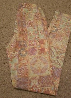 Tween Lularoe Leggings - Antique Stained Glass Design - Gorgeous Print - Nwt