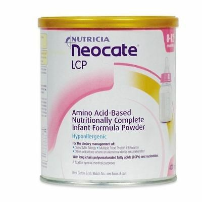 Nutricia Neocate LCP 0-12 infante 400g 1 2 3 6 12 Packs