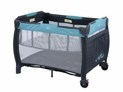 Steelcraft Siesta 2 in 1 Portable Travel Cot Portacot Blue
