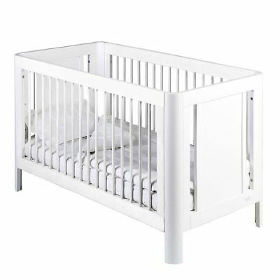Troll Sun Wooden Baby Cot White