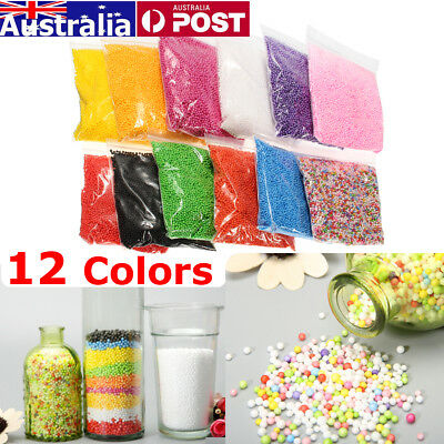 12 Pack 12 Colors Styrofoam Filler Foam Beads Balls Assorted Polystyrene Crafts