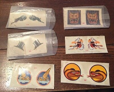 Vintage 1940s World Word Two Bomber Art Decals - NOS LOOOOK