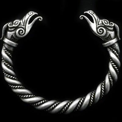 Wolf Twist Bracelet Viking Gothic Pagan Celtic Bangle Valknut Fenrir Oath