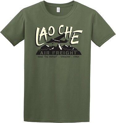 Indiana Jones Inspired Lao Che Air Freight Mens T-Shirt Top Retro Classic  Film d884572f3d4