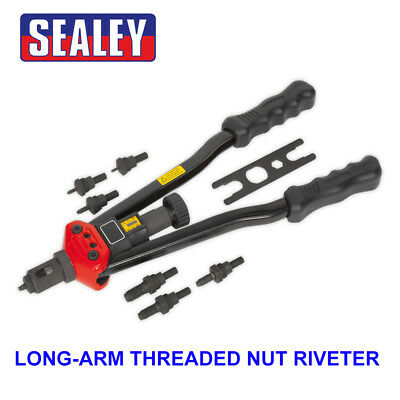 Sealey Long Arm Threaded Nut/Rivnut Riveter/Riveting Insert Kit M3-M12 AK3985