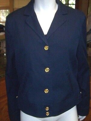 NEW Ralph Lauren dark navy blue blazer jacket sz 12 14 or 16  MSRP $169