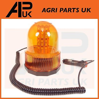 12V LED Magnetic Flashing Amber Beacon Lorry Car Van Tractor Forklift Digger