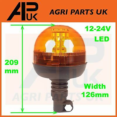 LED Flashing Amber Beacon Digger Forklift Tractor Dumper Lorry Trailer 12V 24V
