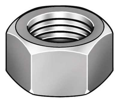#6-32 Zinc Plated Finish Carbon Steel Machine Screw Hex Nuts, 100 pk., 325120-PG