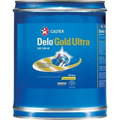 Caltex Delo Gold Ultra Engine Oil - 15W-40, 20 Litre