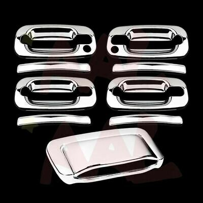 For CHEVY 1992-1999 Suburban Chrome Covers 4 Door Handle w//PSKH /& Tailgate //KH