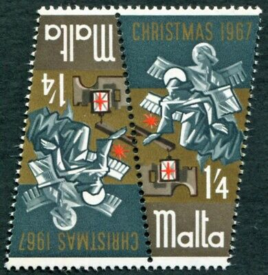 MALTA 1967 1s4d multcoloured SG395 mint MNH FG Christmas Angels #W53