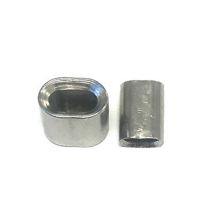 25pcs - Stainless Steel Crimping Sleeves for 1/16 Wire Rope Cable-Chamfered