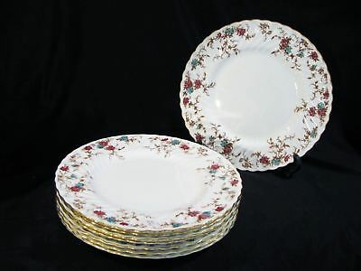 "Set of 8 MINTON ANCESTRAL 10 1/2"" DINNER PLATES"