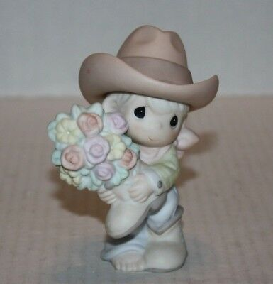 Enesco 2004 PRECIOUS MOMENTS You Bet Your Boots I Love You Figurine 120121