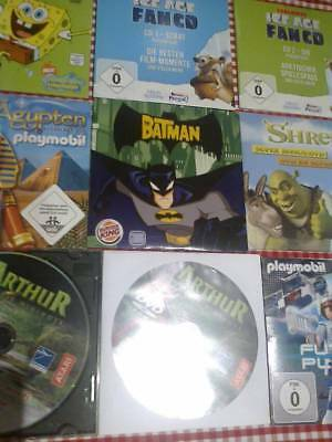 Konvolut CDs und DVDs * Playmobil * Spongebob * Batman * Shrek * Ice Age *Arthur