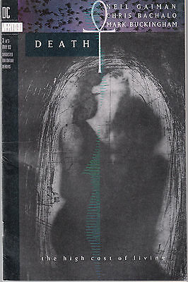 Death: The High Cost Of Living #3 1993 Dc Gaiman//bachalo Fn+