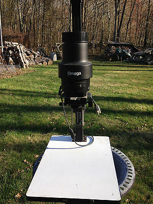 Omega darkroom enlarger with C-700 lamphouse, carrier and lens.
