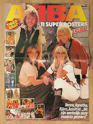 ABBA SUPER POSTER BOOK - NETHERLAND/HOLLAND POSTER MAGAZINE 1970s #2-1978 -RARE