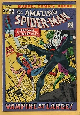 Amazing Spider-Man #102 2nd Appearance of Morbius November 1971, Marvel FN/VF