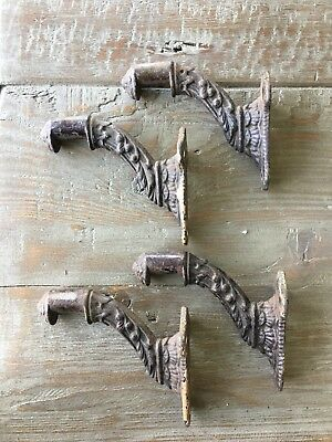 Lot 4 Antique Victorian Stair Hand Railing Hardware Brackets Eastlake Cast Iron