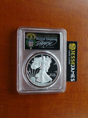 2018 W Proof Silver Eagle Pcgs Pr70 Dcam Cleveland Torch First Day Issue Fdi