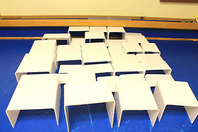 34 White Display Risers, Huge Mixed Lot, Made in USA