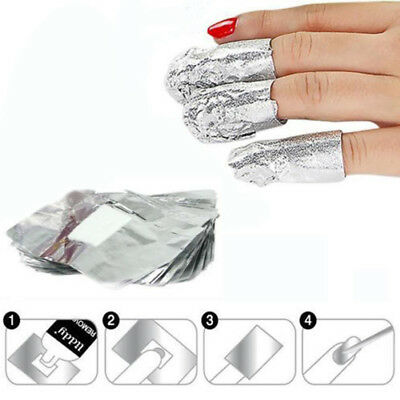 Nail Polish Remover Disposable Clear Take off The Fake Nail Tinfoil Useful
