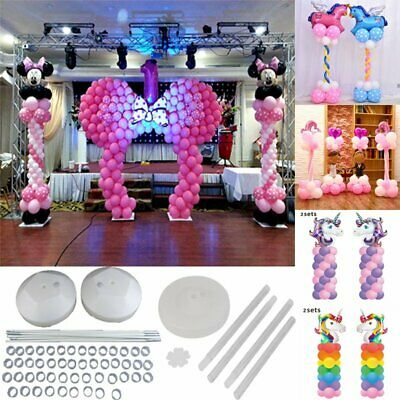 Large Balloon Arch Column Stand Frame Kit for Birthday Wedding Party Decora VIP