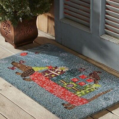Christmas/Holiday Dachshund Dog Doormat