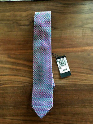 HUGO BOSS TIE Purple Circle MADE IN ITALY RETAIL $95 BRAND NEW WITH TAGES