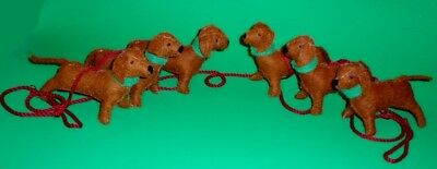 6 Ft Holiday Red Dachshund Christmas Garland - 6  Dogs  on a Red Cord