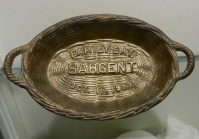 Vtg Iron Wicker Basket Advertisement Sargent Hardware Co Oct.16,1952 Family Day