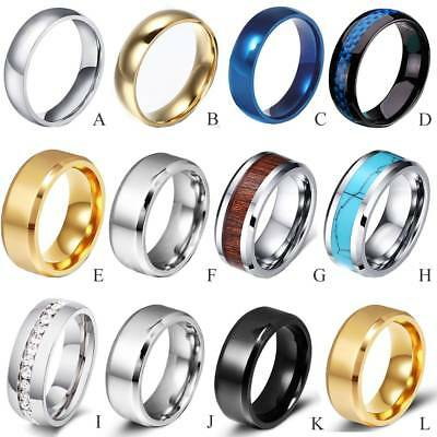Men Women Tungsten Carbide Band Ring Comfort Fit Engagement Wedding Silver Gold