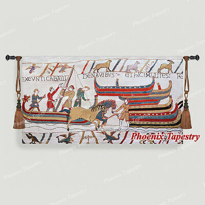 "Bayeux-II Medieval Old World Tapestry Wall Hanging, Cotton 100%, 55""x31"", UK"