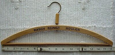 Vintage Wood Clothes Pants Hanger ~ Germany ~ RASCH REINIGT ROSLER