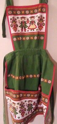 Womens Vintage Folk Art Ethnic Apron. Made in Austria. One Size fits all.