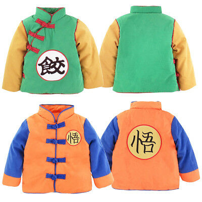 Bebé Niños Abrigo Dragon Ball Z Winter Jacket Chaqueta Child Caliente Cazadoras