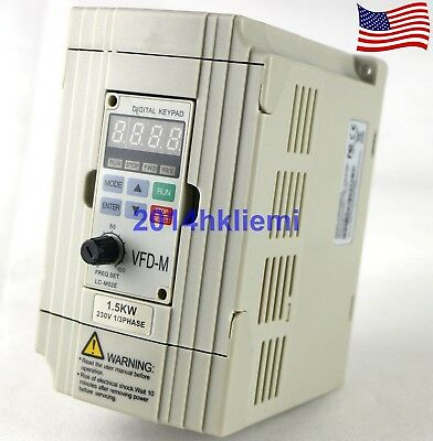 New VFD015M21A Inverter 1.5KW 220V Frequency Converter for Delta